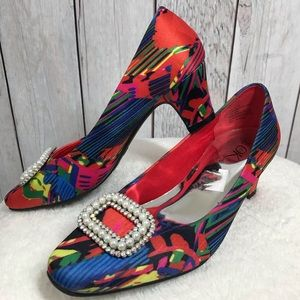 """Womens Size 7.5 M It's Ok Colorful Mid 2"""" Heels"""